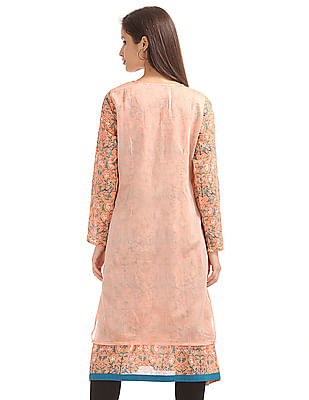 Anahi Kurta With Embroidered Cover Up
