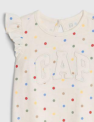 GAP Baby Logo Ruffle Shorty One-Piece