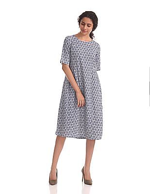 U.S. Polo Assn. Women Printed Modal Linen Dress