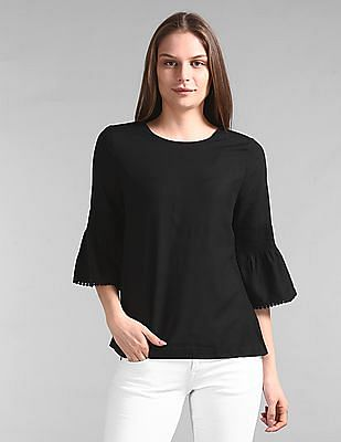 GAP Smock Bell Sleeve Solid Top