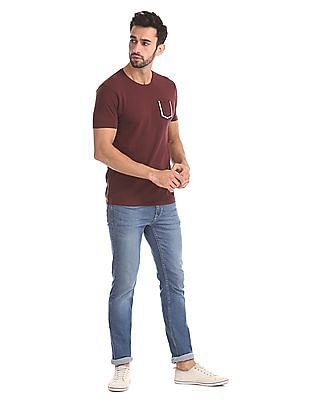 Flying Machine Slim Fit Pique T-shirt