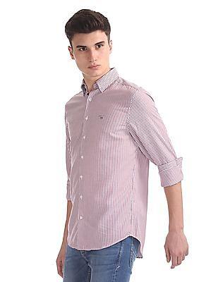 Gant Tech Prep Oxford Stripe Hidden Button Down Shirt