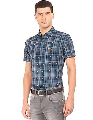 U.S. Polo Assn. Denim Co. Dobby Weave Check Shirt