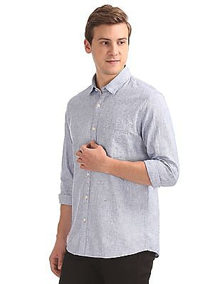 Ruggers Regular Fit Slub Weave Shirt