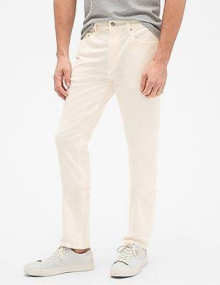 GAP Men White Jeans In Skinny Fit With GapFlex