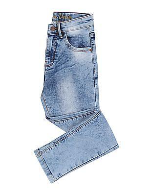 Cherokee Boys Slim Fit Acid Wash Jeans