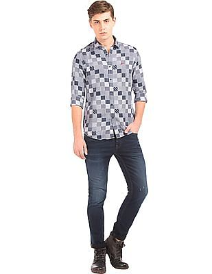 Ed Hardy Jacquard Slim Fit Shirt