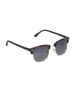 Arrow Polarized Lens Clubmaster Sunglasses