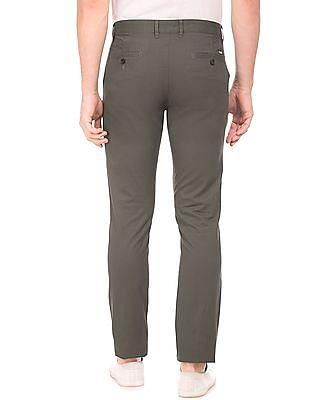 Arrow Sports Slim Fit Cotton Trousers