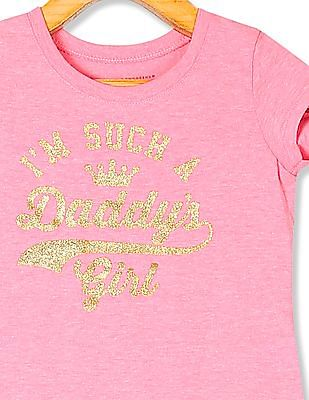 The Children's Place Toddler Girl Pink  I'm Such A Daddy's Girl Print T-Shirt
