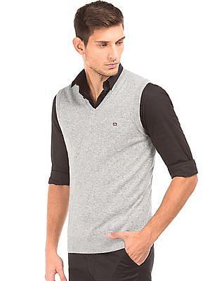 Arrow Sports Lambswool Blend V-Neck Sweater