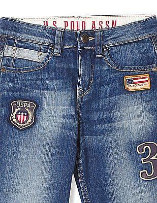 U.S. Polo Assn. Kids Boys Standard Fit Stone Wash Jeans
