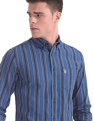 U.S. Polo Assn. Tailored Regular Fit Striped Shirt