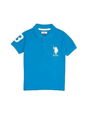 U.S. Polo Assn. Kids Boys Cotton Pique Polo Shirt