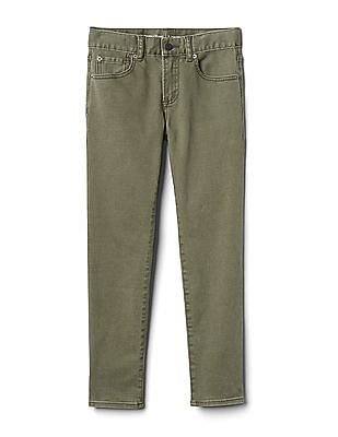 GAP Toddler Boy Green Jeans In Slim Fit With Stretch