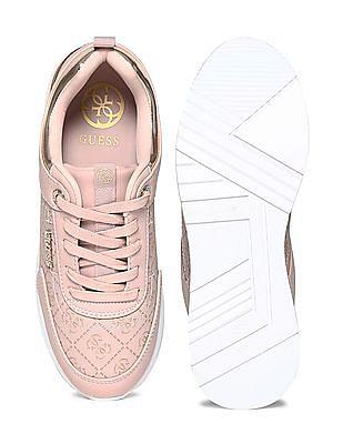 GUESS Debossed Upper Panelled Sneakers