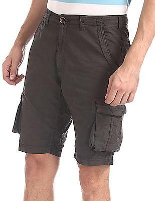 Cherokee Grey Slim Fit Cargo Shorts