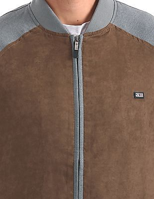 Arrow Sports Colour Blocked Bomber Jacket