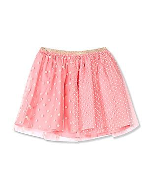 Cherokee Girls Polka Print Flared Skirt