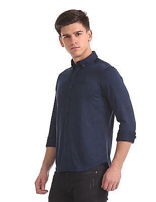 Arrow Sports Slim Fit Heathered Shirt