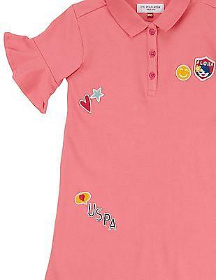 U.S. Polo Assn. Kids Girls Appliqued T-Shirt Dress