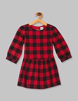 GAP Red Toddler Girl Buffalo Plaid Dress