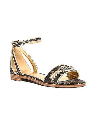 GUESS Ankle Strap Brand Print Sandals