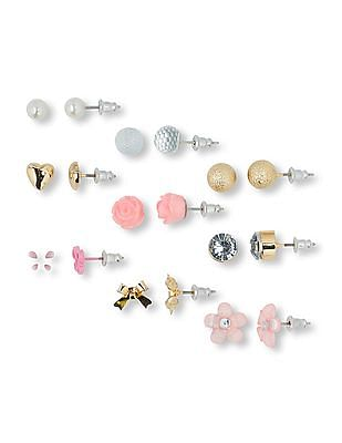 The Children's Place Girls Assorted Bling Icon Earrings 9-Pack