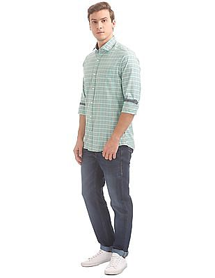 Nautica Long Sleeve Tartan Plaid Shirt