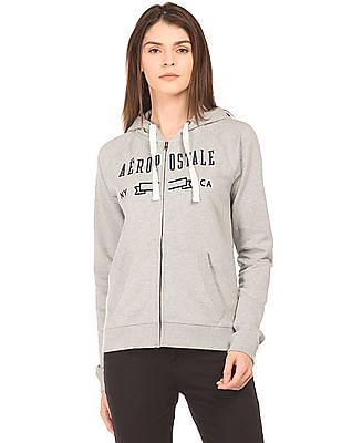 Aeropostale Heathered Zip Up Sweatshirt