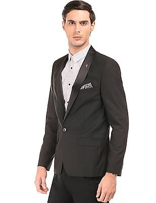 Arrow Single Breasted Slim Fit Tuxedo Blazer