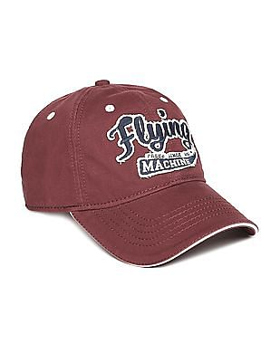 Flying Machine Appliqued Cotton Cap