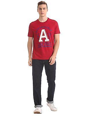 Aeropostale Contrast Print Crew Neck T-Shirt