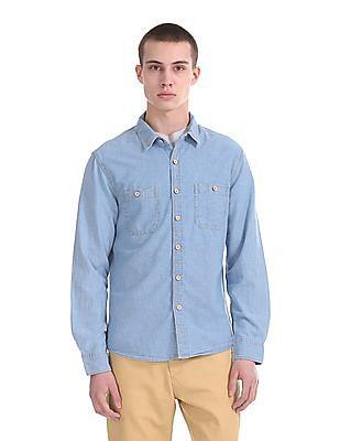 Cherokee Dual Pocket Long Sleeve Shirt