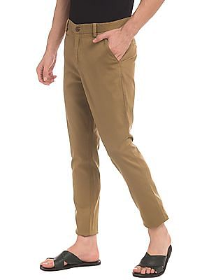 True Blue Mid Rise Flat Front Trousers