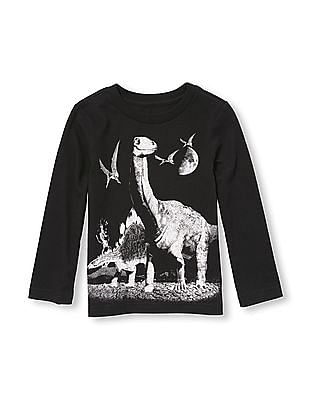 The Children's Place Toddler Boy Long Sleeve Dinosaur Graphic Tee