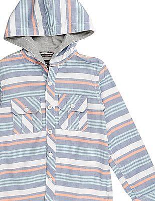 Cherokee Boys Striped Hooded Shirt
