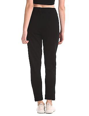 SUGR Black Drawstring Waist Knit Track Pants