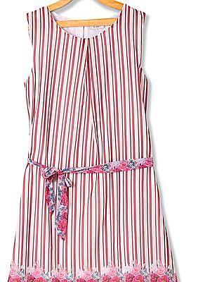 Cherokee Girls Tie Up Stripe Dress