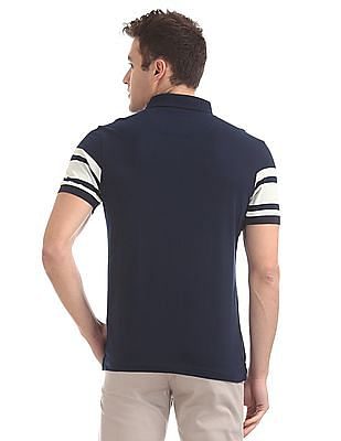 Arrow Sports Regular Fit Striped Chest Polo Shirt