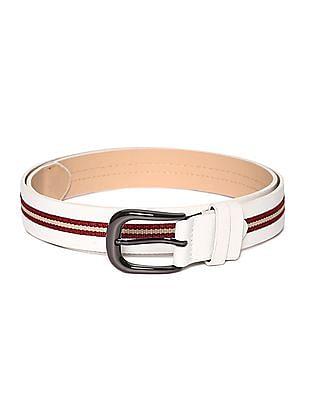 SUGR Contrast Stitch Metallic Buckle Belt