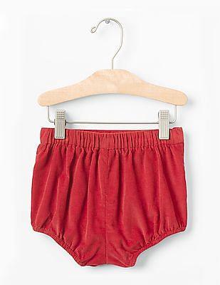 GAP Baby Red Picot Trim Cord Bubble Sorts Pants