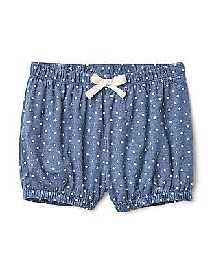 GAP Toddler Girl Blue Printed Bubble Shorts