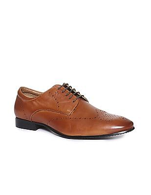 Arrow Round Toe Lace Up Derby Shoes