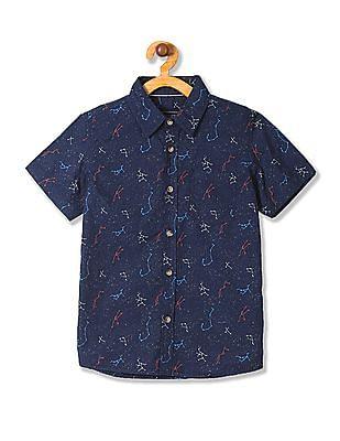Cherokee Boys Printed Short Sleeve Shirt