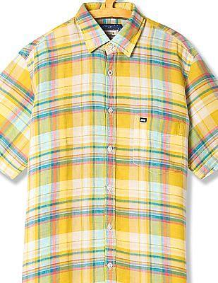 Arrow Sports Linen Check Shirt