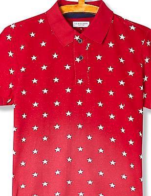 U.S. Polo Assn. Kids Boys Star Print Polo Shirt