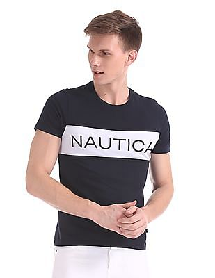 Nautica Short Sleeve Nautica Chest Block Crew T-Shirt
