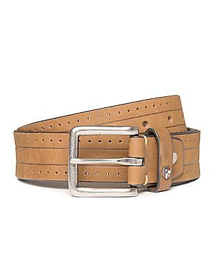 U.S. Polo Assn. Laser Cut Leather Belt