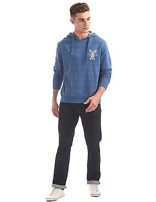 U.S. Polo Assn. Denim Co. Printed Back Striped Sweatshirt